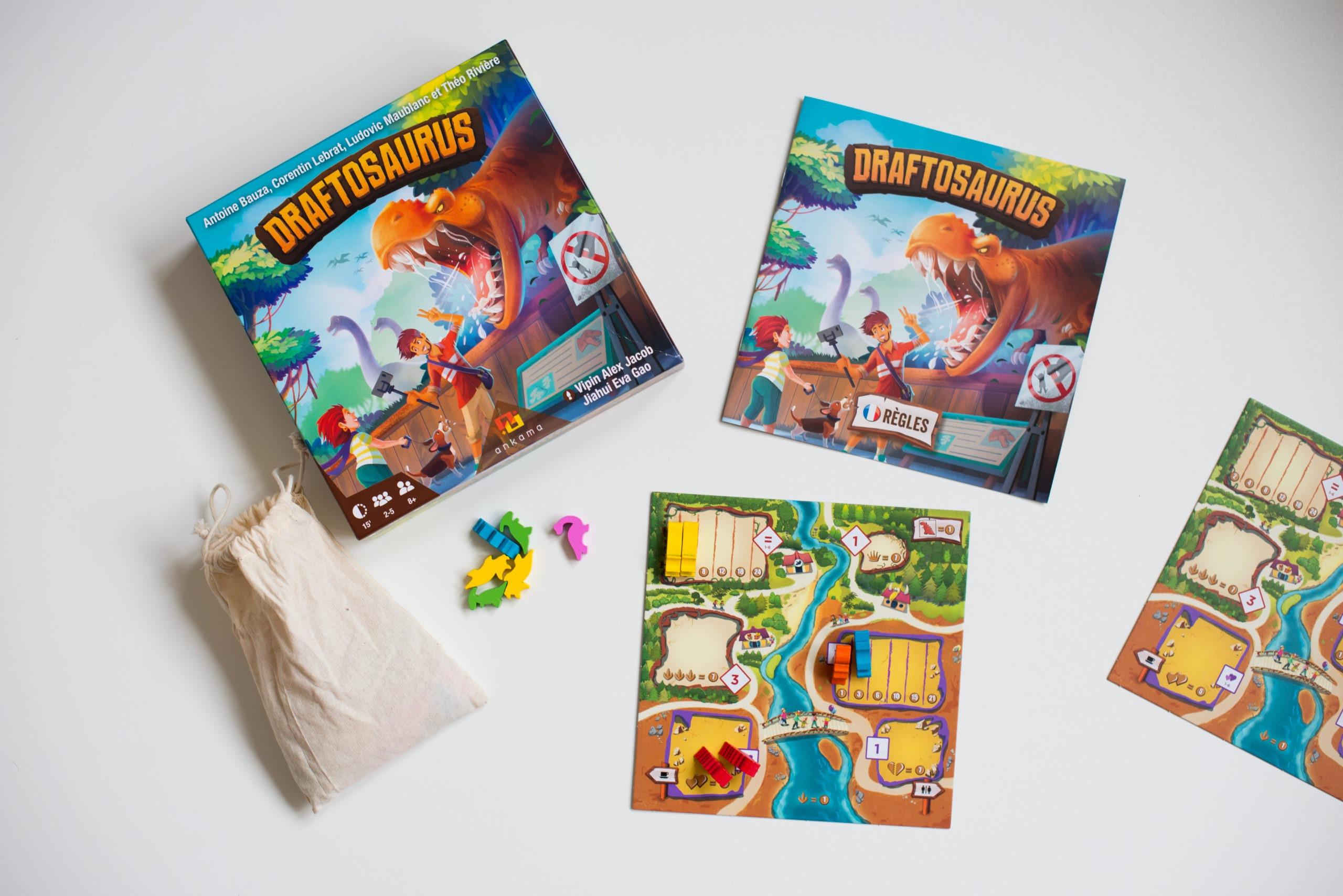 dratfosaurus, jeu famille, enfants, avis, test