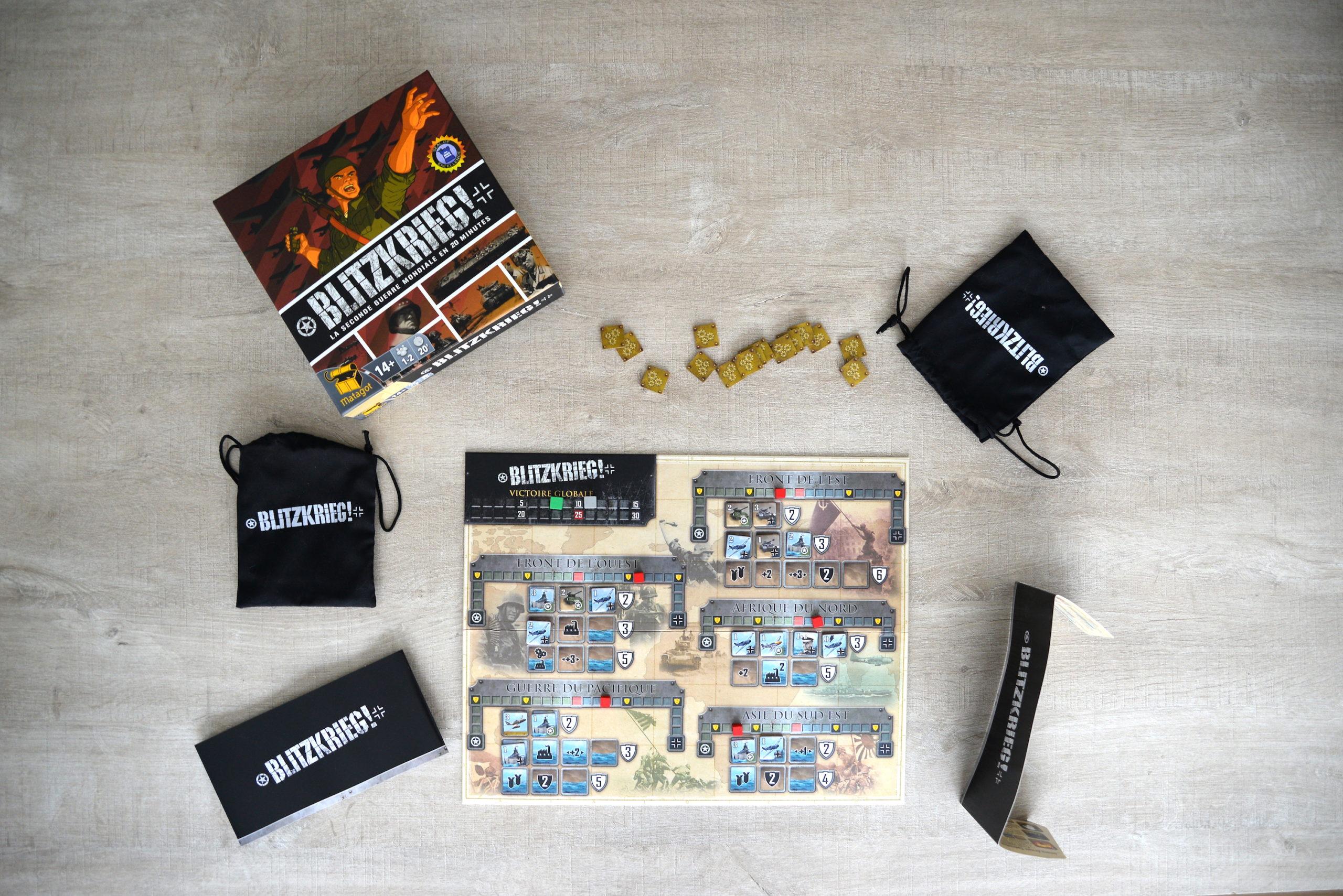 blitzkrieg, jeu de société, seconde guerre mondiale, matagot, jeu pour deux joueurs
