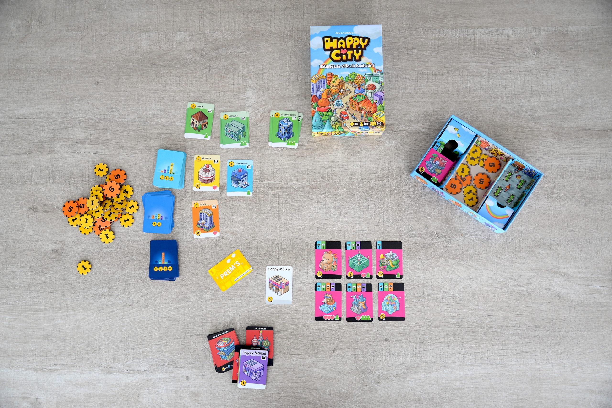 happy city, jeu cartes, jeu société